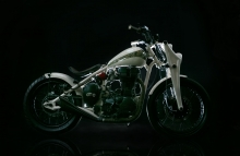 Modified Viking ~ A scratch built Royal Enfield Bobber by Vega Choppers