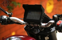 X350 V2 Royal Enfield Modified Haldankar Customs Waterproof LED DISPLAY with GPS, Internet Connectivity, Bluetooth, WiFi, Speedometer , Tachometer , Games, Videos, Music.etc