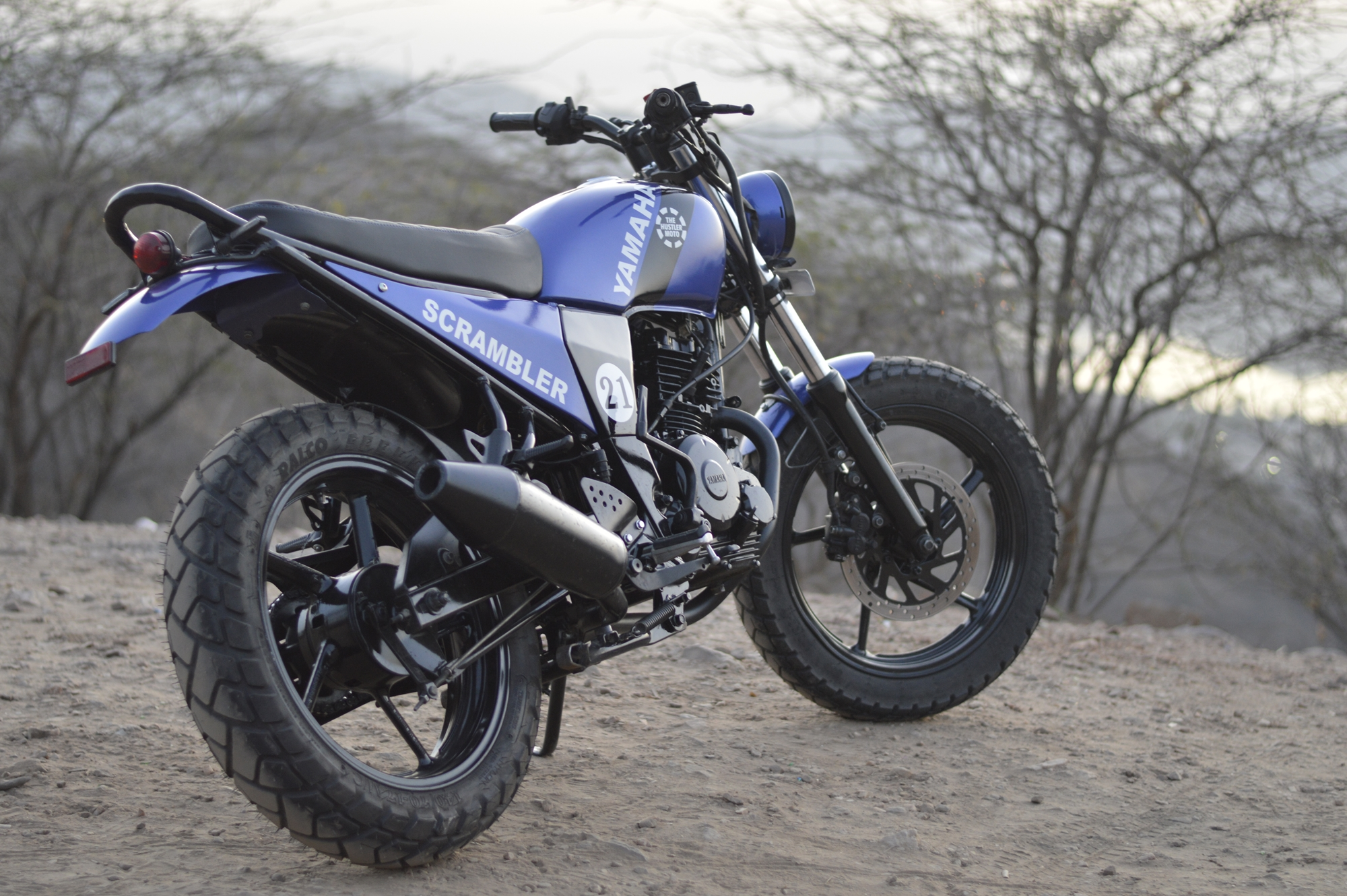 Modified Yamaha FZ scrambler by The Hustler Moto