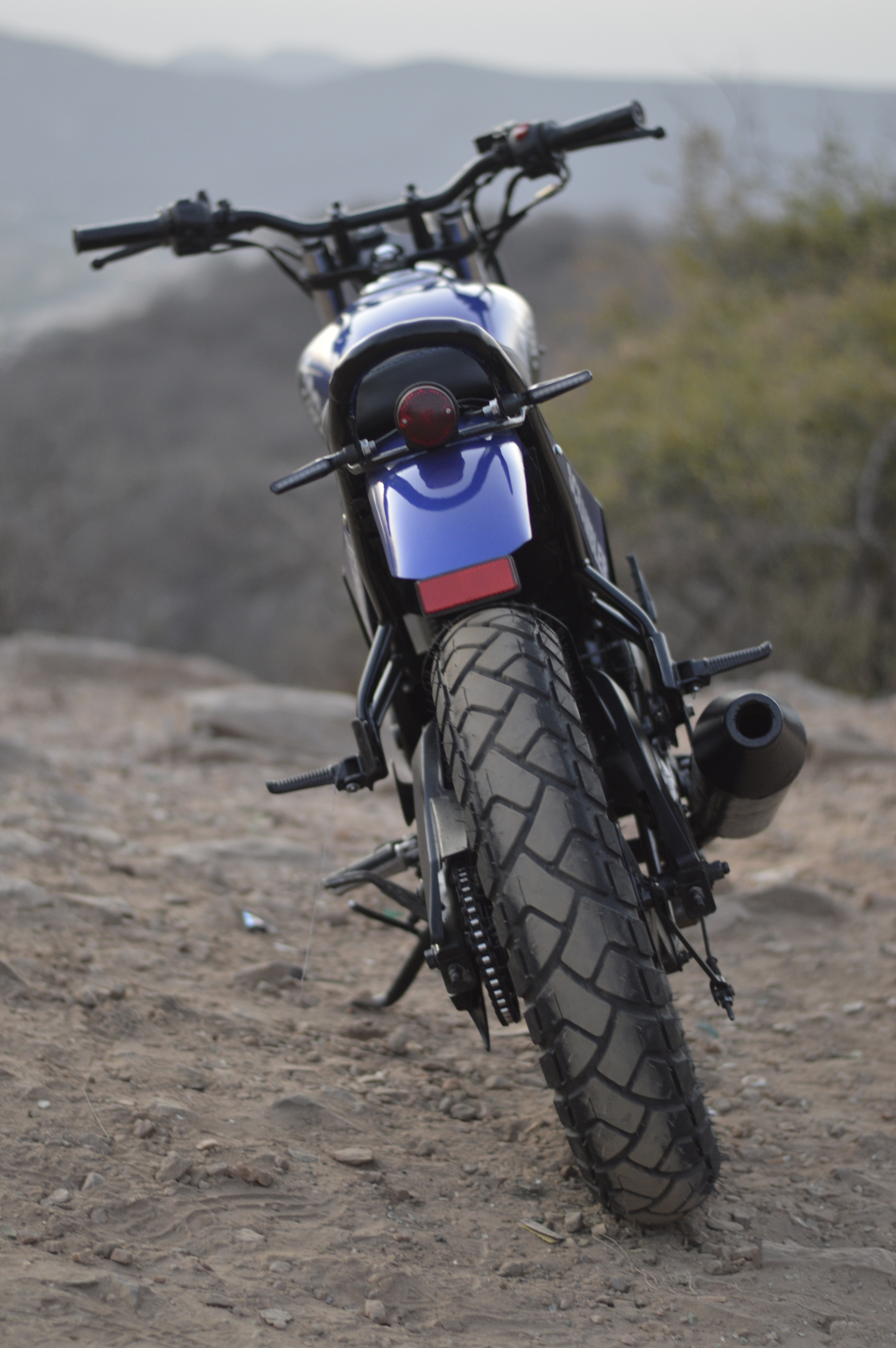 Yamaha FZ scrambler Modified
