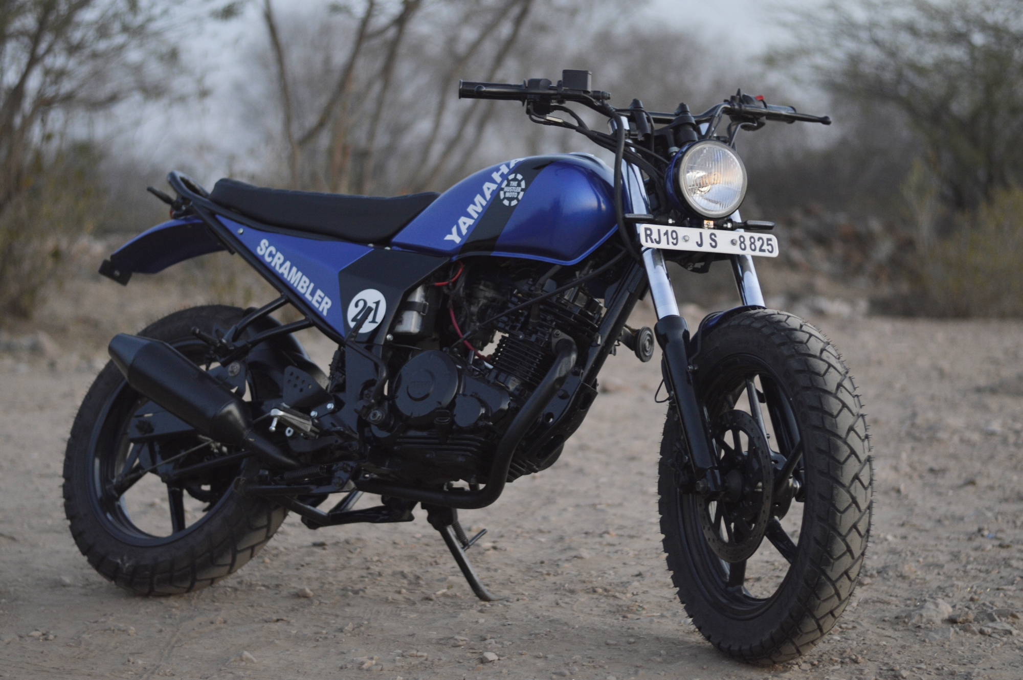 Yamaha FZ scrambler by The Hustler Moto