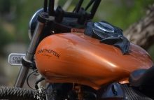Modified Bajaja Avenger Fuel Tank Painting by Ornithopter Moto Design