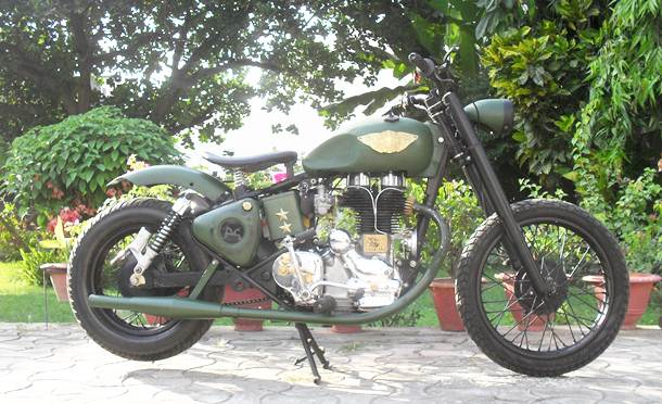 motorcycle_royal_enfield_custom_green_mamba