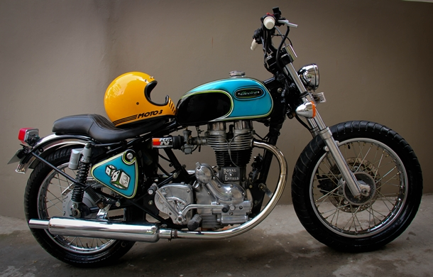 Custom-Royal_Enfield_Elecra_4S_Cafe_Racer_Mizoram_Amateur_photo
