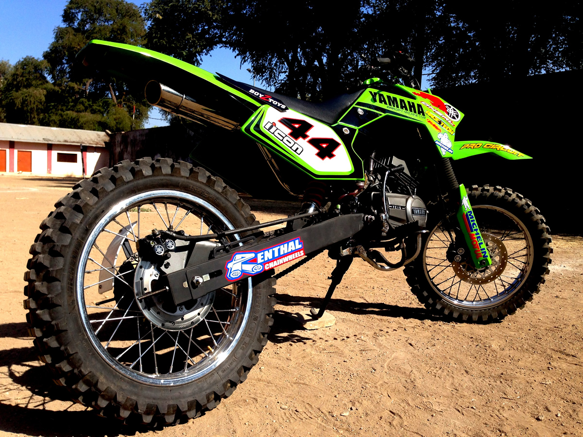 yamaha rxz dirt bike dirtmachine custom motorcycles