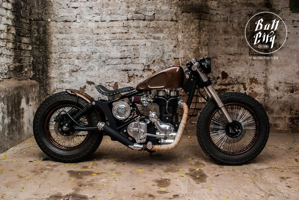 Royal Enfield Electra Cast Iron Bobber by Bull City Customs