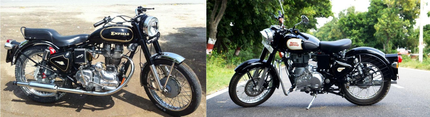 ROYAL ENFIELD. Old Titans or New Nimble!! The wrangle continues..