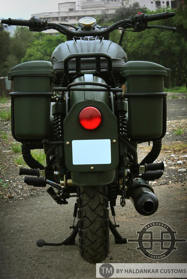 Harley Davidson Battery >> Encode ~ Beautifully painted Military Green Royal Enfield Classic | 350CC.com