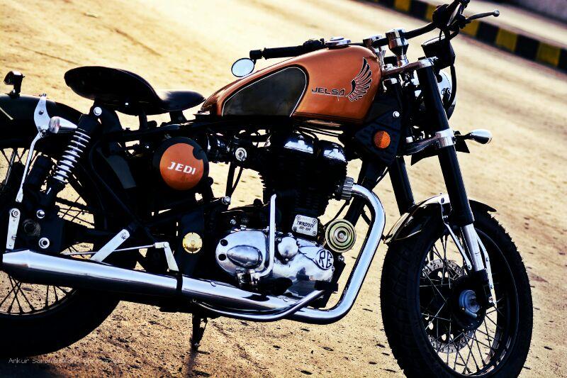 Free Flow Exhaust >> New 500cc Bullet Bobber from Jedi Customs Mumbai