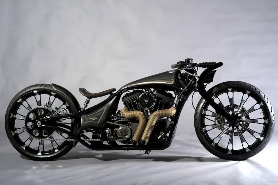 Modified Harley Davidson Super Low 883 Rajputana Customs