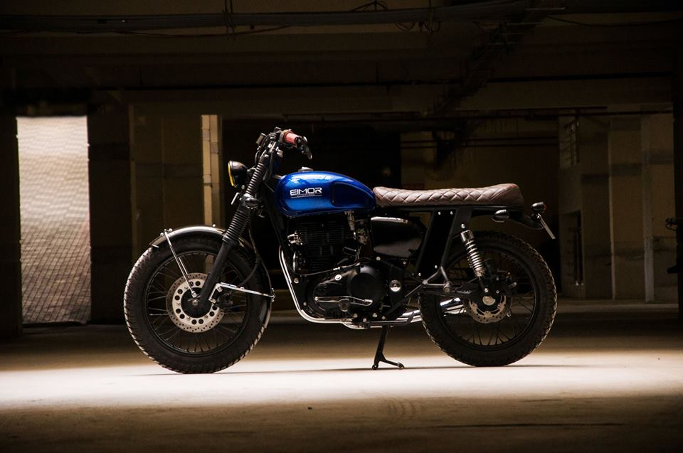 Paulie Royal Enfield Classic 350 Cafe Racer Scrambler By